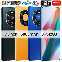 "Mate40 Pro+ 7.3"" Smart phone Android 10-Core 6800 mah 8GB+512GB 5G"
