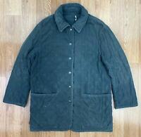Vintage HERMES PARIS Womens Quilted Jacket | Designer Authentic | UK12 Green