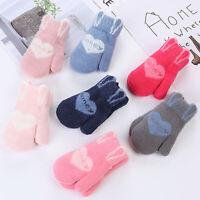 BG_ AB_ Toddler Boys Girls Warm Knitting Gloves Mittens Lovely Winter Autumn Ful