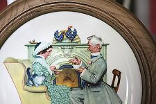 Norman Rockwell Limited Edition Gotham Plate Framed Gaily Sharing Vintage times