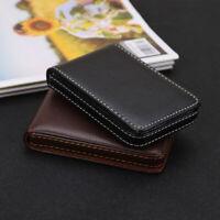 RFID Blocking Leather Men's Credit Card Holder Business Card Case
