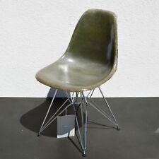 Eames Fiberglass Side Chair Shell Summit Plastics for Herman Miller Olive Green