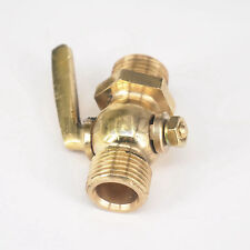 "Brass Drain petcock Shut Off Valve 1/2"" BSP Male for Fuel Gas Oil Air"