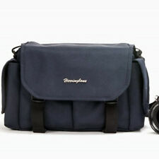 Herringbone D-SLR Camera Shoulder Bag Small (Navy) for Canon Nikon Sony Olympus