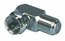 Adaptateur d'antenne Fiche F mâle - F Female coudée 90° Argent