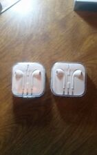 2PCS *New* Headphones Earphones & Mic For Apple iPhone 6S 6 5 5S 4S