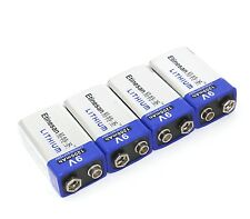 4 x Etinesan 1200mAh ETINESAN 9v Li Batteries 9V Lithium Battery Ultra Long Life