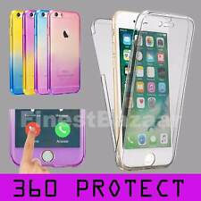 For iPhone 4 4s Front & Back TPU Gel Clear 360° Full Body Protective Case Cover