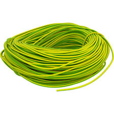 NUOVO PVC Earth Sleeving 100m 3mm Verde / Giallo ogni