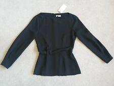BNWT REISS nina black draped top - Size 6 UK