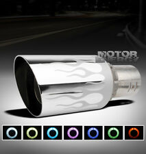 """UNIVERSAL 4"""" 7 COLOR LED EXHAUST MUFFLER TIP FIRE FLAME KIT DODGE EAGLE FORD GMC"""