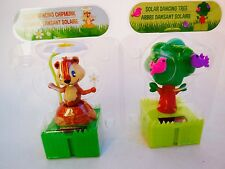 Lots2 Solar-Powered Connectable Dancing Trees  Chipmunk  with Flowers