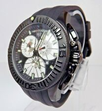 Swiss Legend 46mm 10064 Evolution Chronograph Silver With Silicone Strap Watch
