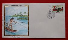 """Clearance - Palau (29) 1983 Christmas, C. Gibbons Paintings Colorano """"Silk"""" FDC"""