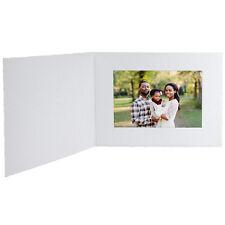 Cardboard Photo Folders 4x6 White Horizontal 25 Pack (Same Shipping Any Qty)