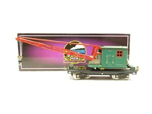 MTH 10-1082 Standard Gauge 219 Crane Car Peacock w/Brass Trim LN