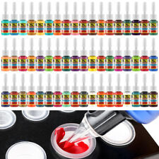 Tattoo Color Ink Set Pigment Kit 54 Complete Colors Professional Artist Supplies
