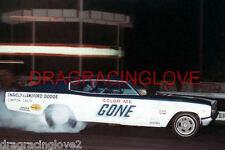 """Color Me Gone"" Roger Lindamood 1966 Dodge Charger NITRO Funny Car PHOTO!"