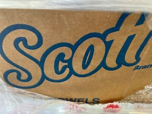 New Scott White 800 ft Hard Roll Paper Towels, 12 Rolls (KCC01040)