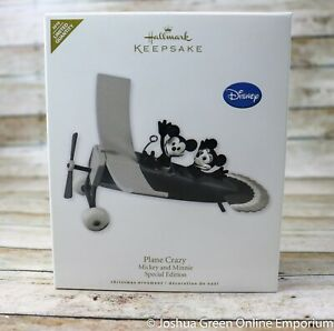 2010 Plane Crazy Disney Mickey Minnie Hallmark Keepsake Ornament Special Edition