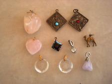 lot de pendentifs pierres quartz améthyste zodiac cristal Swarovski argent ect..