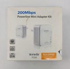 Tenda P200 200 Mbps Powerline Mini Adapter Kit Fast Shipping