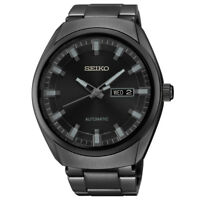 USED Seiko Recraft SNKN43 Men's Automatic Watch Black Dial Stainless Steel
