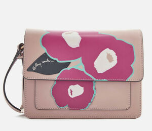 RADLEY PINK EDEN ROW LEATHER HANDBAG SHOULDER CROSS BODY BAG RRP £159!!! NEW!!!