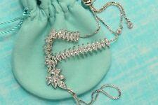 Womens 14K White Gold Finish 3.5 CT Diamond Marquise Cut Ring Bracelet