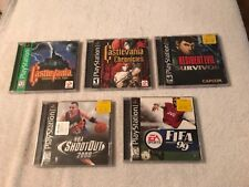 Lot of 5 Sony PlayStation Empty Case *** No Games *** some Rare