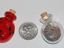 1pc Large Murano Glass essential oils ashes bottle pendant 20x30mm pick clear