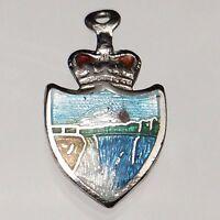 Niagara Falls Vintage Sterling Silver Patriotic Enamelled Charm BM Co Nice B207