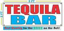 TEQUILA BAR Banner Sign NEW 2X5