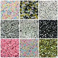 200 Pcs - 7mm Random Mix 7mm Round Flat Coin Letter Beads Kids Beading Crafts