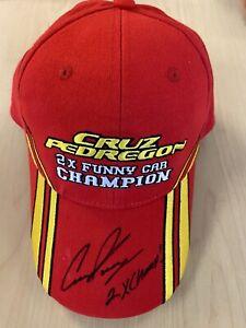 Cruz Pedregon 2x Funny Car Champion SIGNED NHRA Hat