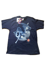 Chicago Cubs Pro Player Mens XL T Shirt Single Stitch Made In USA Blue Vintage