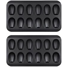 2 Packs Non-Stick Madeleine Pot, Baking Mold 12 with Shell Cake Baking Tray N4Y8