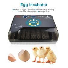Automatic 12 Egg Incubator Temperature Control Chicken Duck Bird Pigeon  Hatcher