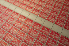 FEUILLE SHEET TIMBRE TYPE PAIX N°370 x100 1938 NEUF ** LUXE MNH COTE 430€