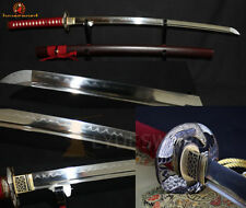CLAY TEMPERED Japanese Katana Sword Full Tang T10 Carbon Steel Very Sharp Blade
