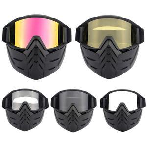 Motorcycle Goggles Anti Fog Motocross Glasses Detachable Mask Motorbike Wear New