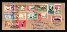S1301-SOLOMON -AIRMAIL REGISTERED COVER HONIARA to SOUTH AFRICA 1961.British.