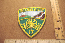 ~GRANITE FALLS~FIRE DIST. 17~FABRIC PATCH~
