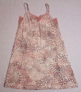 Soma Women's Petite Leopard Cool Night Lace Nightgown AL8 Multicolor Size XS NWT