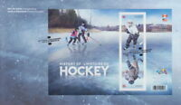 CANADA 2017 HISTORY OF HOCKEY SOUVENIR SHEET FIRST DAY COVER