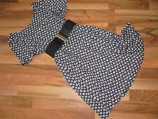 MANGO CASUAL Jersey-Kleid Hängerchen L 40/42 schwarz-weiß gemustert NEU
