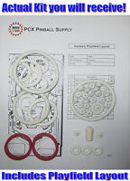 1986 Gottlieb/Premier Genesis Pinball Machine Rubber Ring Kit