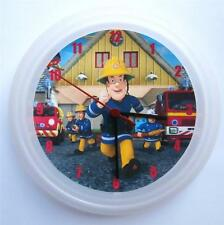 BRAND NEW  WALL CLOCK FIREMAN SAM FREE P&P