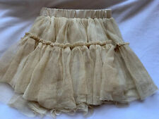 Old Navy Girls Skirt size 2/2T, gold, beige- Worn Once!