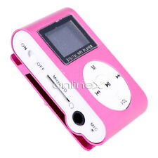 Reproductor Mini MP3 LCD con Enganche Clip, Music Player, Rosa a411 nt